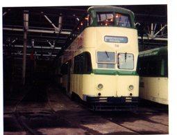35mm ORIGINAL PHOTO Manchester Corporation's Queens Road Tram Depot - F009 - Trains