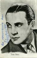 France Music Hall Artiste Chanteur Tino Rossi Autographe Ancienne Carte Photo 1940's - Célébrités