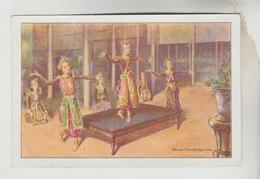 """3 CPSM SPECTACLE DANSE MONDE - Publicité """"LE GAULOIS"""" Etab.BERGOUGNAN Clermont Ferrand : Ballet, Pavane, Cambodgienne - Danse"""