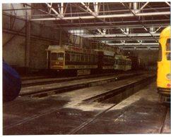 35mm ORIGINAL PHOTO Manchester Corporation's Queens Road Tram Depot - F996 - Trains