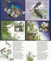 "UCRANIA / UKRAINE -EUROPA 2019 -NATIONAL BIRDS.-""AVES -BIRDS -VÖGEL-OISEAUX""-  CARNET Con 2 HOJITAS BLOQUE - 2019"