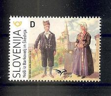 SLOVENIA  2019,EUROMED POSTAL,NATIONAL COSTUMES-MEDITERAN, MNH - Slovenia