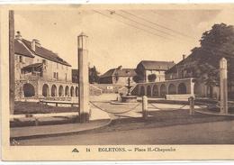 14. EGLETONS . PLACE H. CHAPOULIE . CARTE ECRITE AU VERSO - Egletons