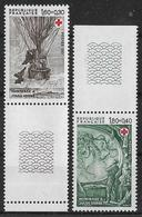 France 1982 - Variété - Gomme Tropicale Mate  (rare) Jules Verne - Y&T N° 2247/2248 ** Neufs Luxe  TB. - Varietà: 1980-89 Nuovi