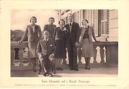 ITALIA Italie - Famiglie Reali Familles Royales - KING QUEEN REGINA : SUA MAESTA' ED I REALI PRINCIPI CPSM 15 X 10.5 Cm - Familias Reales
