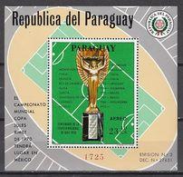 Football / Soccer / Fussball - WM 1970:  Paraguay  Bl ** - Coppa Del Mondo