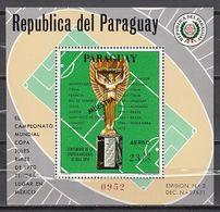 Football / Soccer / Fussball - WM 1970:  Paraguay  Bl **, MUESTRA - 1970 – Mexique
