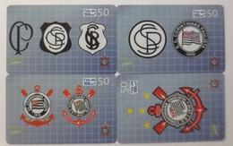 4.Telefonkarten Brasilien Fußball S.C.Corinthians Paulista  Nr. 50  ♥ (61091) - Calcio