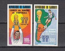 Football / Soccer / Fussball - WM 1978:  Djibouti  2 W **, Imperf. - 1978 – Argentina