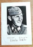 Deutschland - SS - Autogramm Bild Mit Unterschrift - Elite - 1939-45