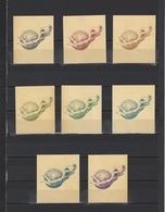 ++ 1984 Cosmonauts Day15 Kop Nominal In Different Colour Thick Paper Colour Proof - Essais & Réimpressions