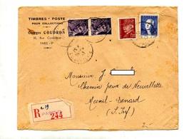 Lettre Recommandee  Paris  Sur Mercure Petain Lavoisier - Marcophilie (Lettres)
