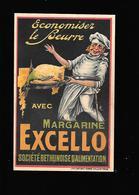 C.P.A. PUBLICITAIRE DE LA MARGARINE EXCELLO. - Publicidad