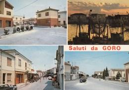 GORO-FERRARA-SALUTI DA-MULTIVEDUTE-2 CARTOLINE VERA FOTOGRAFIA-NON VIAGGIATE - Ferrara