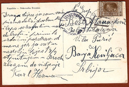 YUGOSLAVIA-BOSNIA-CROATIA, SAMAC-OSIJEK 218 TPO RAILWAY CANCELLATION 1929 RARE!!!!! - 1931-1941 Kingdom Of Yugoslavia