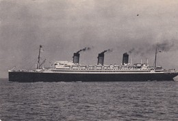 """CPSM 10X15  Cie Gale Transatlantique """" S.S. ILE DE FRANCE """" Ligne Le Havre - Angleterre - New York - Paquebots"""