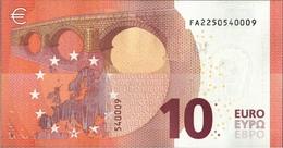 ! 10 Euro, F002G1, Money, Geldschein, Banknote FA2250540009, Mario Draghi, EZB, ECB, Europäische Zentralbank - EURO