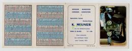 CALENDRIER DE POCHE DOUBLE DE 1973 - SIGNALISATION ROUTIERE - K. MEUNIER - 36 - LE BLANC - BENTLEY 1930 - Calendriers