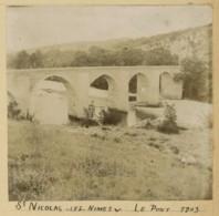 Gard . Saint-Nicolas-lès-Nîmes . Le Pont . 1903 . - Lieux