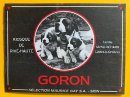 10913 - Goron Kiosque De Rive-Haute   Suisse Saint-Bernard - Chiens