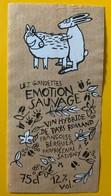 10916 - Les Gondettes Emotion Sauvage Vin Hybride  Suisse Le Lièvre Dans Le Sanglier.... - Autres