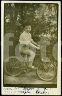 1937 ORIGINAL REAL PHOTO FOTO POSTCARD ENFANT VINTAGE VELO BICYCLE BICICLETA - Motorbikes