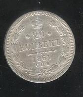 20 Kopecks Russie 1861 TTB - Russland