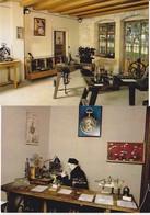 2 Cartes: Musée D'Horlogerie Chateau Pertusier Morteau Les Machines à Graver, Le Mécanicien Horloger - France