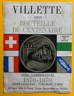 10929 - Bouteille Du Centenaire 1970 Ligne Lausanne - Vallorbe - Paris - Trains