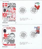 Denmark; 1989; Europa - CEPT;  Set Of 2 On FDC (Populær Filateli) - 1989
