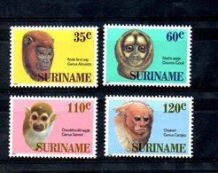 SURINAME, 1987,  PRIMATES, 4v. MNH** - Chimpanzees