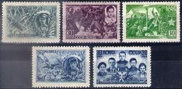 Russia 1943, Michel Nr 860-64, MNH OG - Unused Stamps