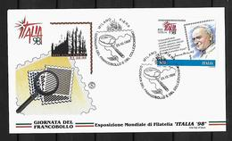 1998 Joint/Congiunta Italy San Marino Vatican , FDC ITALY WITH 1 STAMP:   Stamp Day - Emissioni Congiunte