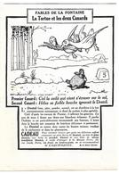 1924 Dentifrice Dentol Illustrateur Benjamin Rabier - La Tortue Et Les Deux Canards - Fables De La Fontaine - Publicités