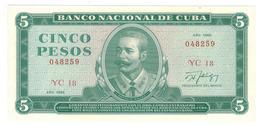 Cuba 5 Pesos 1986 ,  AUNC. - Cuba