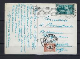 N°TX60 GESTEMPELD OP KAART VANUIT Italië 1953 COB € +12,50 - Tasse