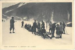 74 CHAMONIX MONT BLANC SPORTS HIVER DEPART DE LUGES Editeur  BRAUN & CIE N ° 12003 COLLECTION : LES DEUX SAVOIES - Chamonix-Mont-Blanc