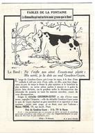 1924 Goudron-Guyot Illustrateur Benjamin Rabier - La Grenouille Qui Veut Se Faire Aussi Grosse Que Le Boeuf La Fontaine - Publicités