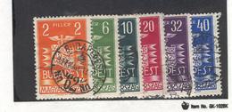 HUNGARY  1937 Budapest Intl. Fair, Scott Nos. 503-508 Used - Hungary