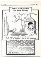 1924 L'Autoplasme Illustrateur Benjamin Rabier - Les Deux Pigeons - Fables De La Fontaine - Publicité - Publicités