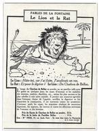 1924 Charbon De Belloc Illustrateur Benjamin Rabier - Le Lion Et Le Rat - Fables De La Fontaine - Publicité - Publicités
