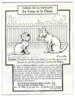 1924 Charbon De Belloc Illustrateur Benjamin Rabier - Le Loup Et Le Chien - Fables De La Fontaine - Publicité - Publicités