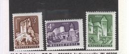 HUNGARY  1964 Castles, Scott Nos. 1644-1646 MH - Unused Stamps