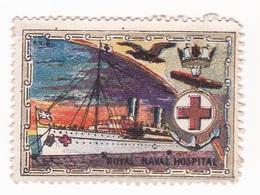 Vignette Militaire Delandre - Grande Bretagne - Royal Naval Hospital - Vignettes Militaires