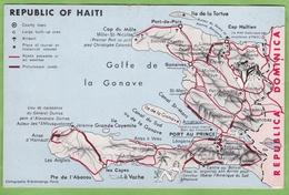 """CPSM HAITI Contour Géographique Etat """" Trace De Punaise """" - Haiti"""