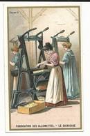 CHROMO ANCIENNE - SERIE INDUSTRIE - FABRICATION DES ALLUMETTES - LE CHIMICAGE - TBE - Vieux Papiers