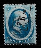 1864 Koning Willem III 5 Ct.  NVPH 4 Gestempeld (Franco In Kastje) - Gebraucht