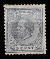 1872 Koning Willem III 5 Ct.  NVPH 19 Ongestempeld - Ongebruikt