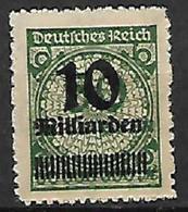 GERMANIA REICH REP.DI WEIMAR 1923 SERIE DEI MILIONI SOPRASTAMPATI CON NUOVO VALORE UNIF. 319  MLH VF - Germania