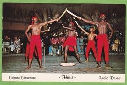 Rare CPSM HAITI Port Au Prince Vodoo Dance Cabane Choucoune Cabaret Animé Format CPA Stamp - Haiti